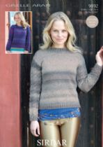 Sirdar Giselle Aran - 9892 Ladies Jumpers Knitting Pattern